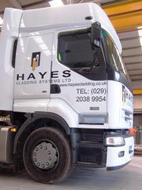 Hayes Cladding articulated lorry