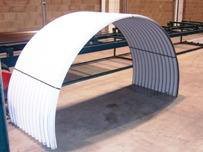 Image showing curved corrugated sheets